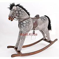 ALANEL TITAN DAPPLE GREY Handmade LARGE Rocking Horse from