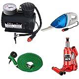Varshine-Combo-Car-Care-Kit-Include-3-Tonn-Car-Jack,-Vaccum-Cleaner,-Air-Pressure-Pump-300-PSI,-Water-Gun,-Car-Cleaner-Gloves,-Model-Super-304