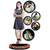 Unique Stuff Personalized Gift Wooden Cutout Photo Frame Customised with Your Photos (10 x 12 inch, Multicolor)