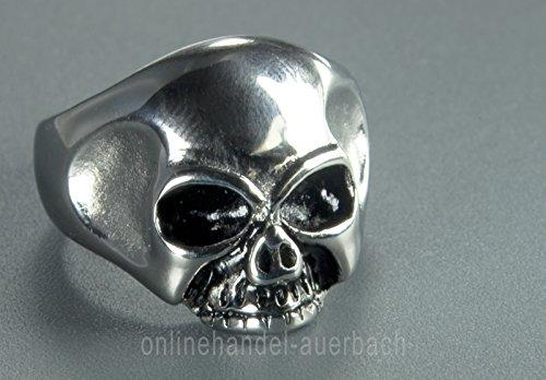 TOTENKOPF SKULL RING KEITH RICHARDS Edelstahlschmuck Ringgröße: 70 (22,6 mm) USA 13