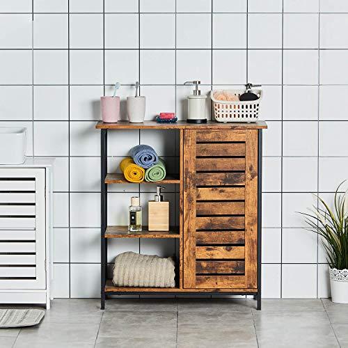 DICTAC Kommode Wohnzimmer Wohnzimmerschrank Küchenregal Kommode Schrank Küchenschrank Sideboard Beistellschrank mit 3 Ablagen und Schrank im Vintage-Design