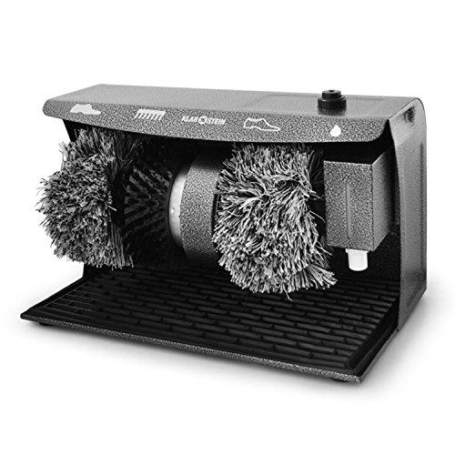 Klarstein SPO-17C • Schuhputzmaschine • Schuhpolierer • 120 Watt Motor • 2 rotierende Baumwollbürsten • Reinigungsbürste • helle & dunkle Schuhe • Schuhcremespender • leise • schwarz