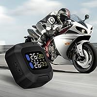 Moto de Sistema de Vigilancia de la Presión de los Neumáticos Motocicleta TPMS Sensor Externo USB Potencia Pantalla LCD