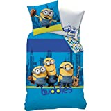Bettwäsche Set Minions, 135x200cm + 80x80cm, Linon, Minion, Buddies, Manhatten
