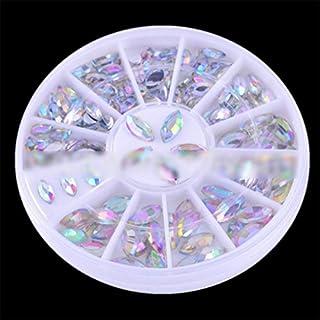 Pure Vie Strasssteine für Nägel - 3D Nagel Kunst Funkeln Rhine Scheibe Dekoration Edelsteine Kristall Rad #3