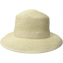 Phymusan - Sombrero de Paja para Mujer con protección Solar UPF ... 38ebf940b1ad