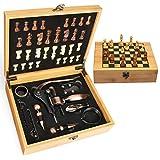 Best Accessori Coniglio Vino - Yobansa® Bamboo box Wine Opener set di scacchi Review
