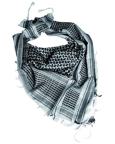 Price comparison product image Army Tactical Scarf Military Shemagh Patrol Keffiyeh Combat Shermag White Black