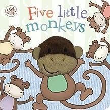 Little Learners Five Little Monkeys Finger Puppet Book (Little Learners Finger Puppets)