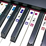 TimberRain Piano Stickers for Keys, Removable, Double Layer Coating Color Keyboard Stickers for 49 / 61 / 76 / 88 Keyboards