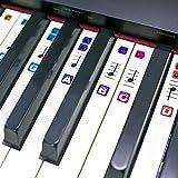 TimberRain Klavier Aufkleber für 49 / 61 / 76 / 88 Key Keyboards, Durchsichtige Ablösbare Aufkleber für die Klavier, mit praktischer Anleitung
