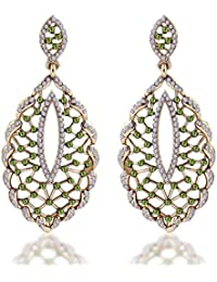Sukkhi Wedding Jewellery Drop Earrings for Women (Golden) (6223EADD850)