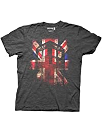 Doctor Who - Union Jack, Athletic Grey, XX-Large