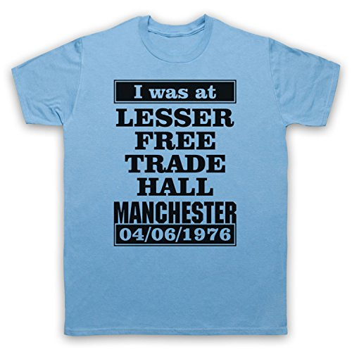 I Was At Lesser Free Trade Hall Manchester Herren T-Shirt Hellblau