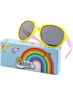 CGID gafas de sol polarizadas de goma suaves a la moda con marco flexible 100% Protección UV 400 para niños niños...