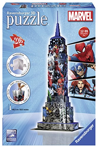 ravensburger-12517-marvel-empire-state-building-puzzle-edificio-3d-216-piezas