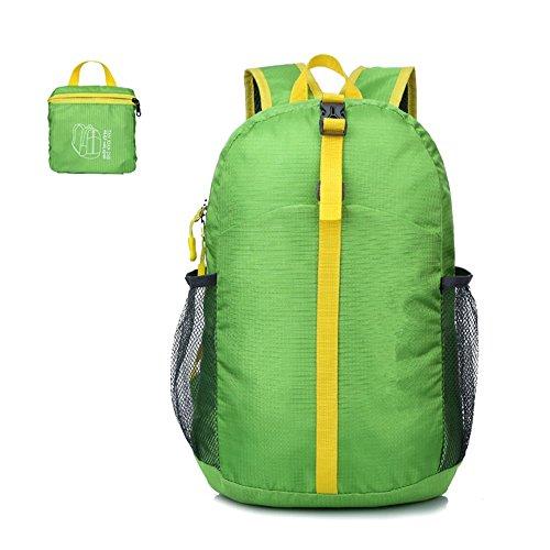 ZYPMM Outdoor Sporttaschen wasserabweisende leichte Klapp-Reisetasche Klapp Rucksack untergebracht Green