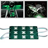 #5: Vheelocityin 9 LED Custom Cuttable Bike/ Car Green Light for Interior/ Exterior