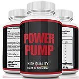 Power Pump, Muskelaufbau | Testo Booster | Muskelaufbau Kur | Hochdosiert starkes Arginin Komplex | Citrullin | Koffein | Calcium | Diät | Sex | Anabol