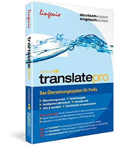 translate pro 12. Deutsch-Englisch / Englisch-Deutsch. CD- + DVD-ROM: Das professionelle Übersetzungssystem, das höchsten Ansprüchen genügt