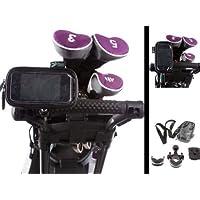 Carrello da golf a U per manubrio telaio supporto con custodia impermeabile per Apple iPhone 3G/3GS