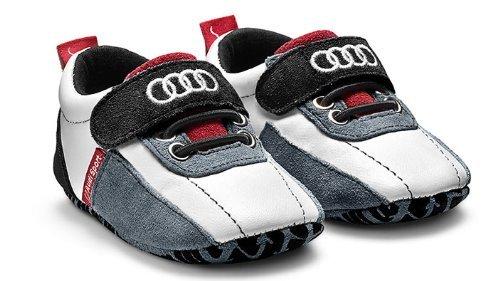 Baby Schühchen, Gr 17-18, Audi Sport, schwarz/weiß/rot