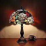 NMBE-light Lámpara de sobremesa de Tiffany, lámpara de Mesa, Restaurante, lámpara de Mesa, Restaurante, 12 Pulgadas, jardín Vintage de 12 Pulgadas