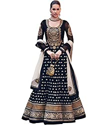 Maxthon Fashion Women's Georgette Dress Material (Max_salwarsuits_dresses_2242_Free Size_Black)