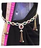 #5: XLDreams American Diamond and Pearl waist chain/kamarband/belly chain/waist belt