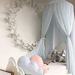 Kuuboo Children Bed Canopy,nursery Decorations,Kids Dome Cotton Mosquito Net  Play Tent Room