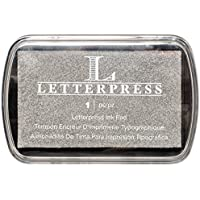 We R Memory Keepers–Letterpress–Almohadilla de Tinta, Color Plateado