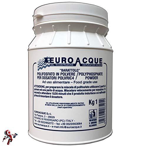 Ricarica polifosfati euroacque 1 kg Ricariche per dosatori polvere rapida solidificazione per massima durata polifosfato polvere polifosfati per