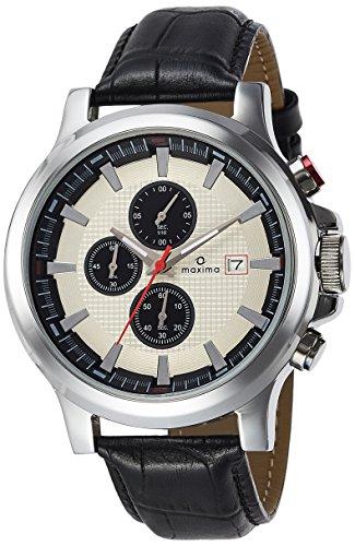 Maxima Chronograph White Dial Men's Watch - 27712LMGI image