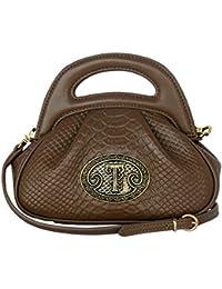 56a8ea76edb9 SILVIO TOSSI Damen Leder Handtasche Schultertasche Braun Modell 11498-05