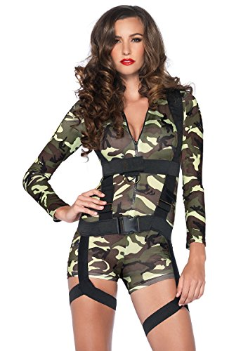 LEG AVENUE 85292 - Goin Commando Kostüm Set, 2-teilig, Größe S, ()