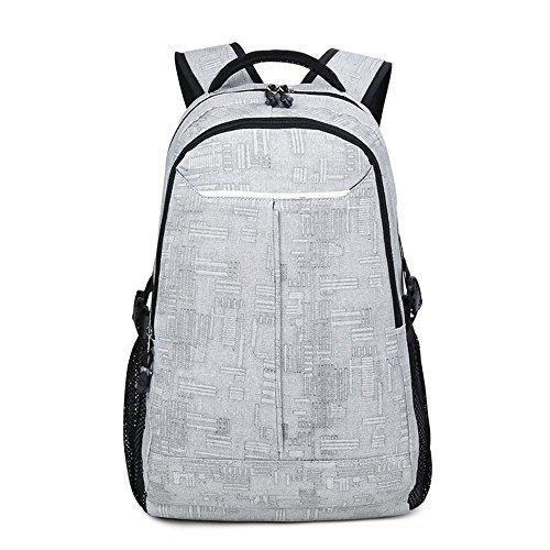 Toile School College Backpack Lithos Sports voyage sac à dos pour étudiants/garçons/hommes Gris