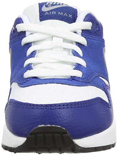 Nike - Air Max 1 (Ps), Sneakers infantile bianco (white/wolf grey-gym blue-black)
