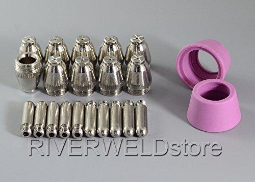 SG-55 AG-60 Plasma-Schneidmesser Verbrauchsmaterial KIT mit Schneiddüse 1,0 50Amp, 22pcs