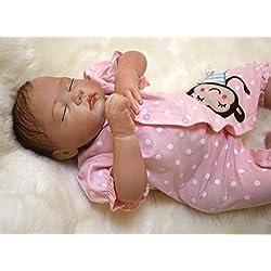 HOOMAI 20inch 50CM poupée Reborn bébé Fille Silicone réaliste Girls Dormir Baby Dolls Toy Pas Cher Magnétisme Jouet Cadeaux Fermez Les Yeux