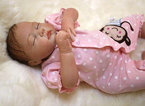 HOOMAI 20inch 50CM poupée Reborn bébé Tome Fille Soft Silicone réaliste Girls Dormir Baby Dolls Toy Charmant Fermez Les Yeux Sommeil Pas Cher Magnétisme Jouet Cadeaux Fermez Les Yeux