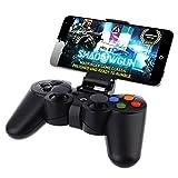 Qiucdz senza fili Bluetooth Gamepad Joystick - regolatore del gioco portatile per Iphone VR 6, 6plus, Samsung S6, S5, S4, HTC, Sony, Android Smart Phone, Tablet PC, TV BOX - Nero immagine