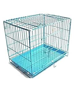 Pet On Wheel Dog Cage, Dog Crate, Cage for Dogs, Strong and Light Weight Foldable Dog Cage (Dog Cage - 36 Inch)
