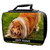 Personalised Scotch Collie Dog Animal BLACK Lunch Bag 265