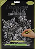 Royal & Langnickel Silver Engraving Art A4 Size Tabby Cat and Kittens Designed Painting Set