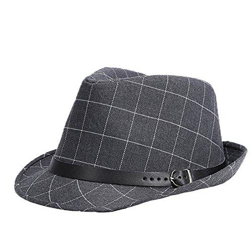 uomini-ragazzi-moda-autunno-inverno-tartan-cappello-di-jazz-fedora-trilby-cappelli-grigio