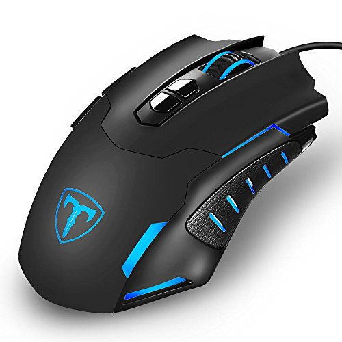 Holife Gaming Mouse 7200 DPI Gamer Mouse USB Wired Maus PC Gaming Maus mit programmierbaren 6 Tasten/1.6 Kabellänge/LED Beleuchtung/Rechtshänder für Pro Gamer, PC usw (Usb-2.0-standard-pc)