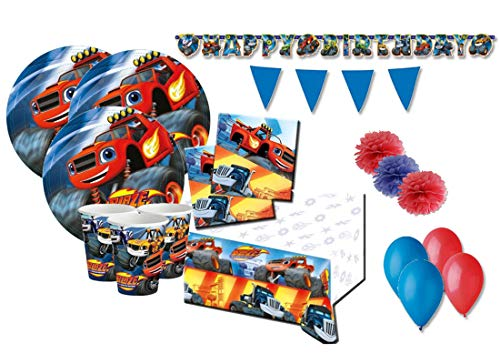 DECORATA PARTY Geburtstagsdekorationen Blaze und die Monster-Maschinen kit 46f (Blaze Monster Maschinen-party)