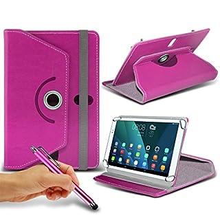 (Pink) JINYJIA [7 Zoll] Tasche Fall hŸlle [Standplatz -hŸlle] fŸr JINYJIA [7 Zoll] Tablet PC Kasten-Abdeckung [Standplatz -hŸlle] strapazierfŠhigem Synthetik PU-Leder-360 Roatating Abdeckung Tasche Fall hŸlle [Standplatz -hŸlle] mit 4 Federn von i- Tronixs