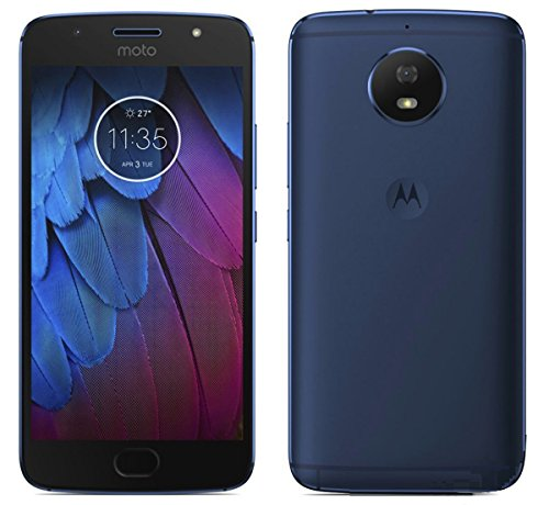 Moto G5S Midnight Blue, Tempered Glass, Azzil Premium Real 2.5D 9H Anti-Fingerprints & Oil Stains Coating Hardness Screen Protector Guard For Moto G5S Midnight Blue