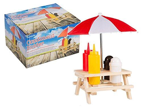 Picknicktisch Menage Set Gewürzständer Grill Tisch Ketchup Senf Pfeffer Salz Salzständer Spender Hot Dog
